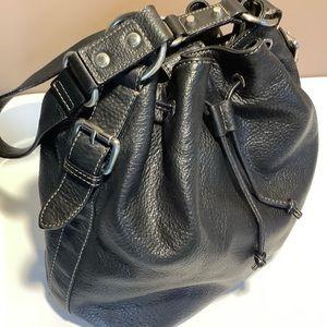 Danier leather drawstring shoulderbag